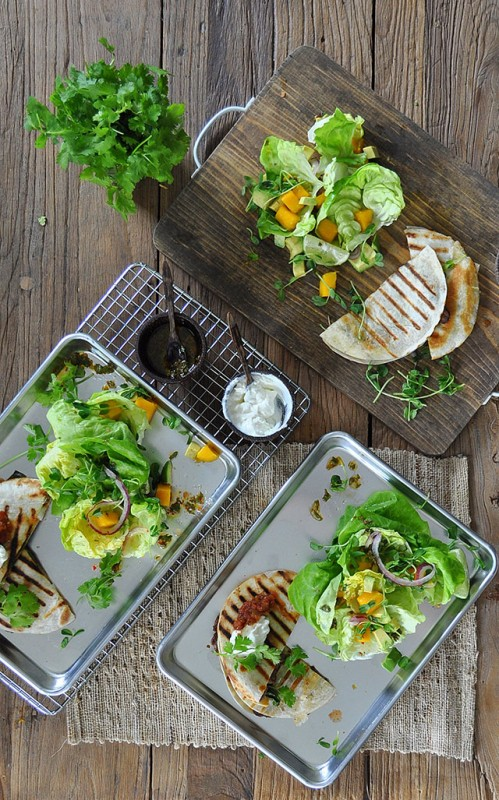 20 Minute Meals: Steak Quesadillas with Mango Avocado Salsa   Food Bloggers of Canada