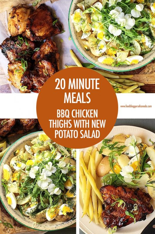 20 Minute Meal: BBQ Chicken Thighs with New Potato Salad