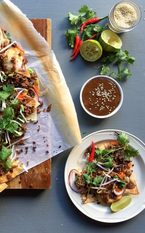 On Board in 20: Thai Nachos with Crispy Pork | Food Bloggers of Canada