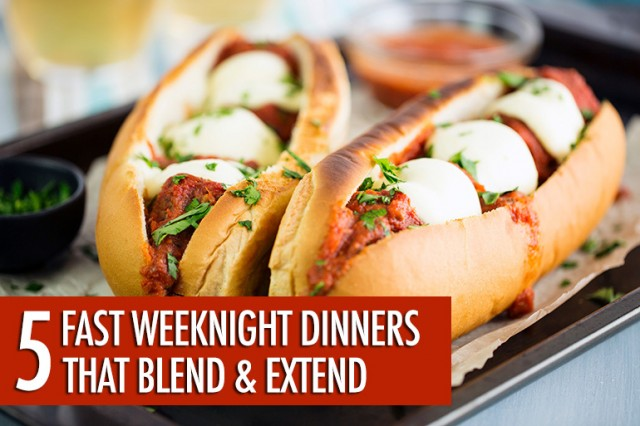 5 Easy Weeknight Dinners that Blend and Extend | Food Bloggers of Canada