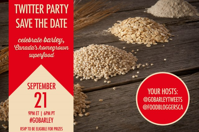 #GoBarley Twitter Party | Food Bloggers of Canada