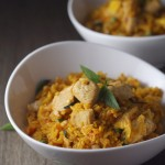 Thai Red Curry Fried Rice with Chicken | Sprinkles and Sauce