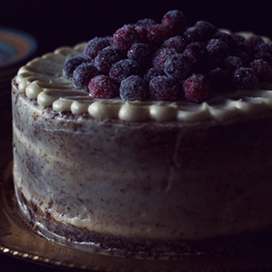 Gingerbread Cake with Cream Cheese Frosting | One Tough Cookie