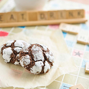 Chocolate Mint Crackle Cookies | Imagelicious