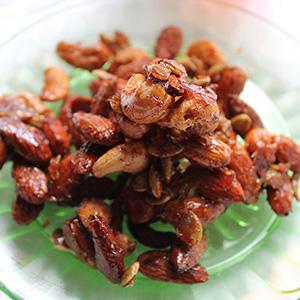Sweet & Salty Roasted Cocktail Nuts | Friendly Food Snobs