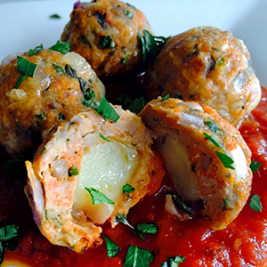 Meatballs Stuffed with Mozzarella | Everyday On Occasion