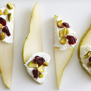 Pears with Goat Cheese & Cranberries | Sweet Potato Chronicles