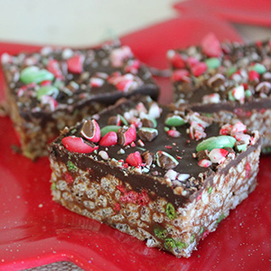 Festive Mars Bars Squares | Bakers Beans