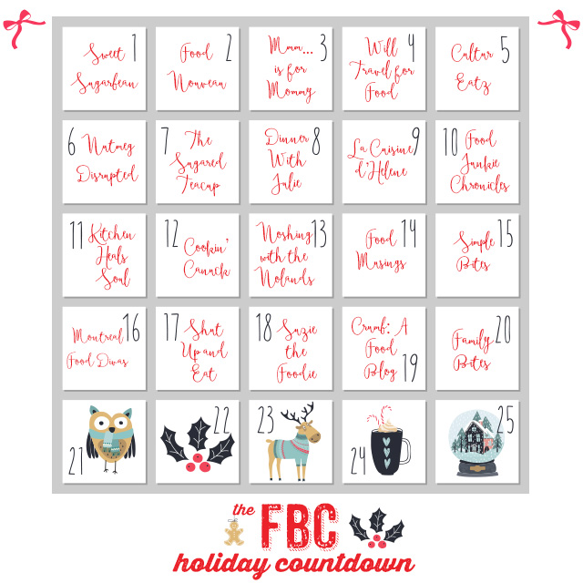 Countdown to the Holidays Day 20: Family Bites | Food Bloggers of Canada