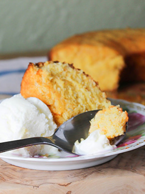 Pink Grapefruit and Rosemary Cornmeal Cake | Cocoa Bean the Vegetable