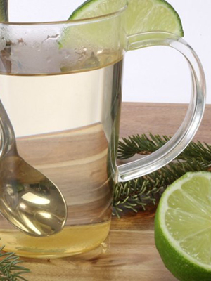 Spruce Tea with Lime and Honey | Earth Food & Fire