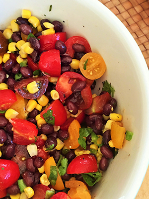 Corn, Black Bean and Tomato Salad | Kitchen Bliss