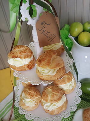 Lime Buttercream Puffs | MDIVADOMESTICA