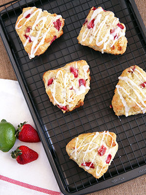 Strawberry Lime Scones | Leelalicious