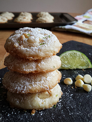 White Chocolate and Lime Cookies | Tiny Sweet Tooth
