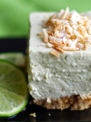 No Bake Avocado Lime Cheesecake | Within the Kitchen