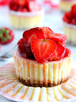Strawberry Grapefruit Cheesecakes | Marisa's Italian Kitchen
