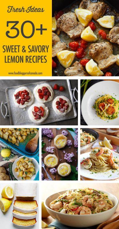 Over 30 Sweet & Savoury Lemon Recipe Ideas