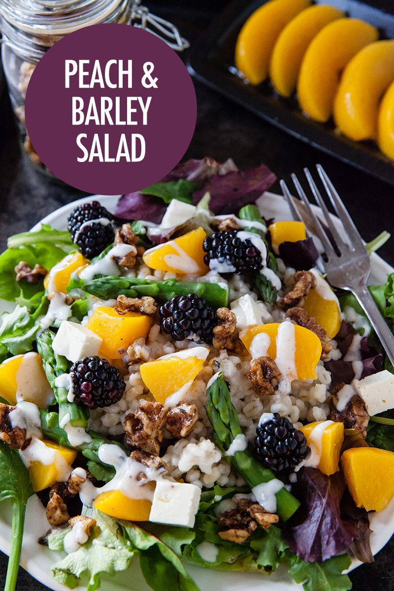 Peach, Blackberry and Barley Salad | Food Bloggers of Canada