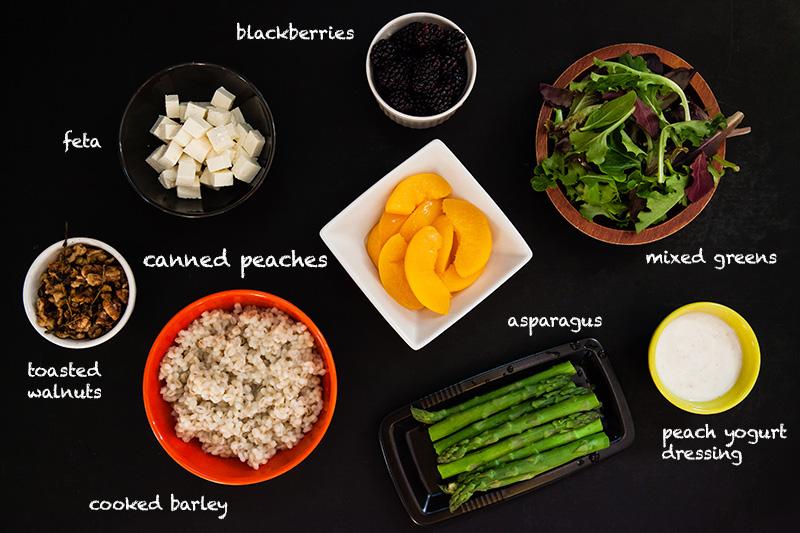 Peach & Barley Salad with Asparagus | Food Bloggers of Canada