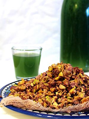 Pistachios Syrup and Pistachio Coconut Cake | Cultur Eatz