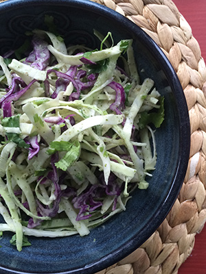 Jalapeno Coconut Coleslaw | From Pasta to Paleo