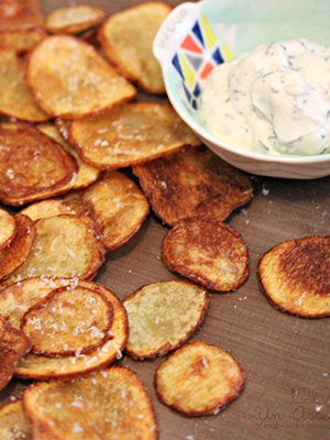 Parmesan Chips with Dill Dip | Un Assaggio