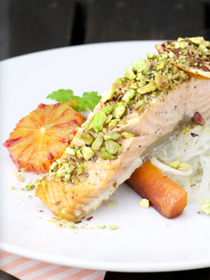 Bood Orange Pistachio Salmon | The Foodolic