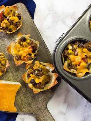 Crunchy Nacho Burrito Taco Cups | Carmy