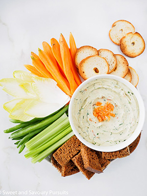 Smoked Salmon Cream Cheese Dip | Sweet & Savoury