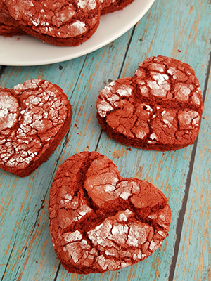 Red Velvet Heart Crinkle Cookies | Tales of a Ranting Ginger