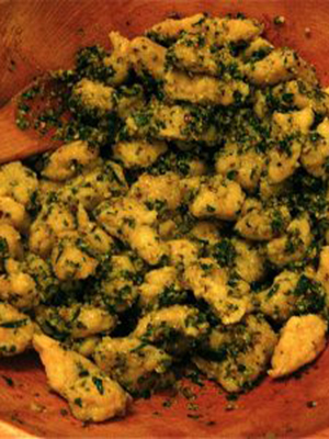 GF Gnocchi with Tarragon Pistachio Pesto | Multiculturiosity