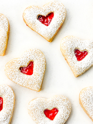 Raspberry and White Chocolate Shortbread Cookies | Ahead of Thyme