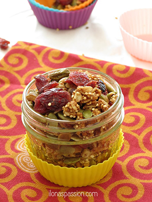 Pistachio, Quinoa and Cranberry Granola | Ilona's Passion