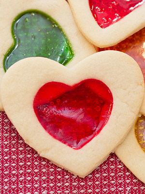 Stained Glass Valentine Cookies | Mommy Outside the Box