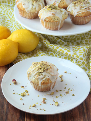 Lemon Pistachio Muffins | The Busy Baker