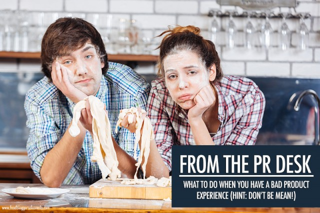 The PR Desk: Negative Product Reviews | Food Bloggers of Canada