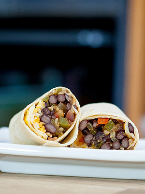 Black Bean Fajita Freezer Burritos | In Fine Balance