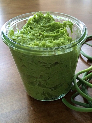 Garlic Scape Pesto | From Pasta to Paleo