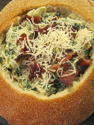 Freezer Friendly Chicken Spinach Dip Bread Bowls | Things I Make For Dinner