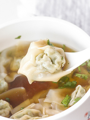 Chicken & Cilantro Wontons | Ahead of Thyme