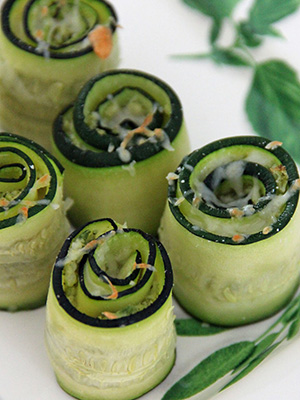 Broccomole Zucchini Rolls | Jo and Sue
