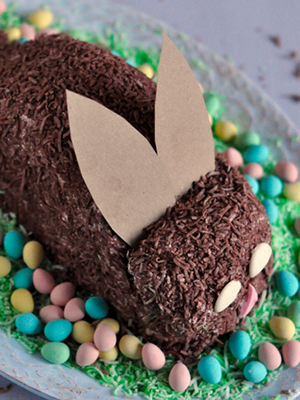 Lactose Free Easter Bunny Cake | The Inspired Home