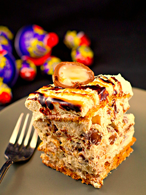 No Bake Easter Cream Egg Icebox Cake | Food Meanderings