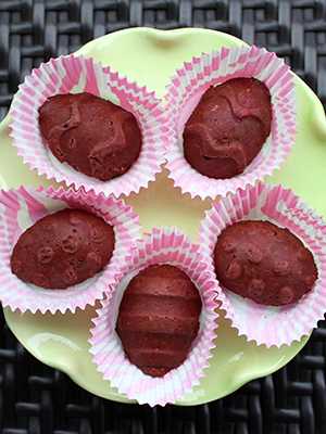 Raspberry Coconut Chocolate Eggs (DF) | Phruitful Dish