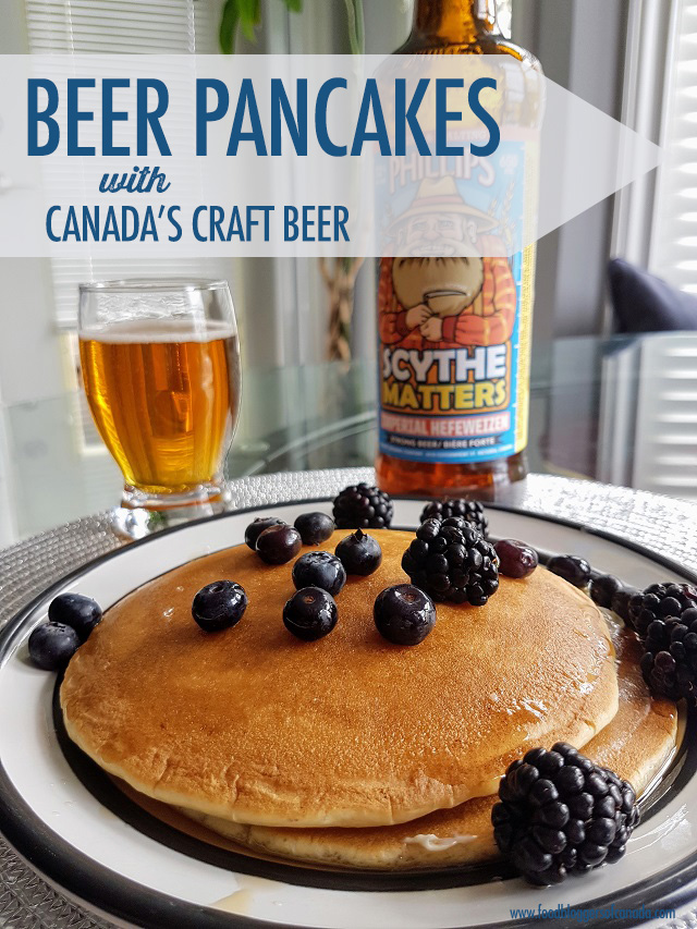 Beer Pancakes with Canadian Craft Beer | Food Bloggers of Canada