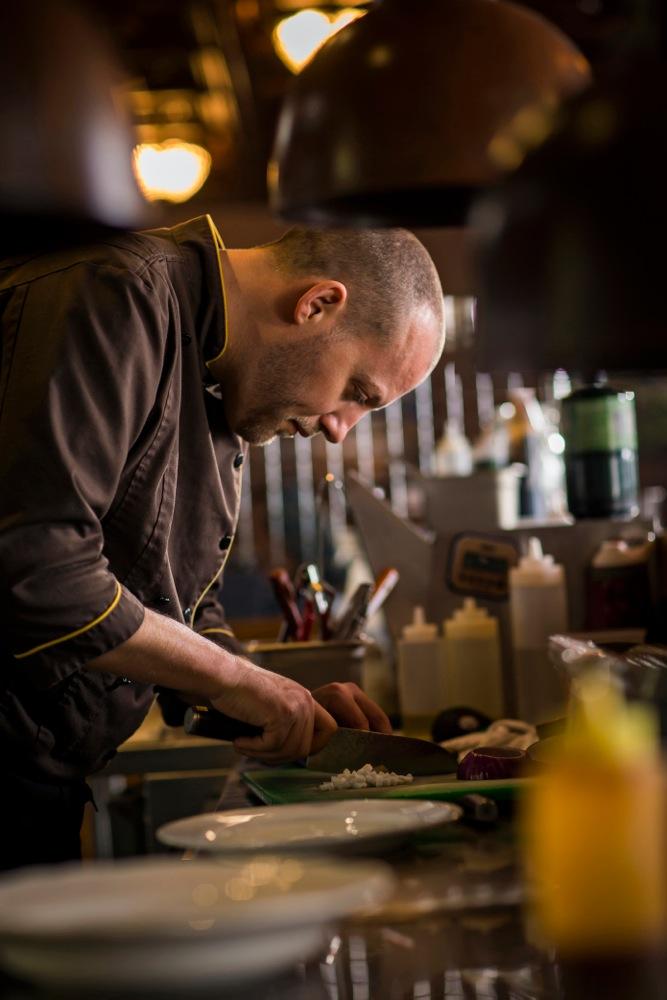 Chef Garrett Thienes of Harvest Eatery and Fresh Market
