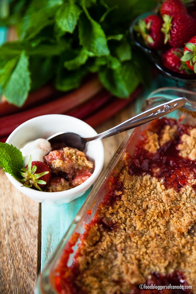 Rhubarb Strawberry Coconut Maple Crisp | Food Bloggers of Canada