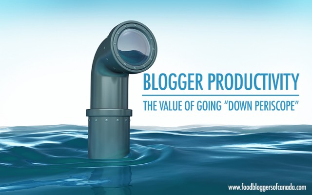 Blogger Productivity: The Value of Going Down Periscope | Food Bloggers of Canada