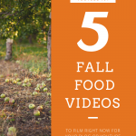 Fall Food Video Ideas for YouTube Pinterest Pin